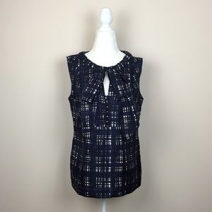 Tory Burch - Sleeveless Pussy Bow Blouse